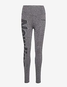 Jaquard Tights - löpnings- och träningstights - heather grey