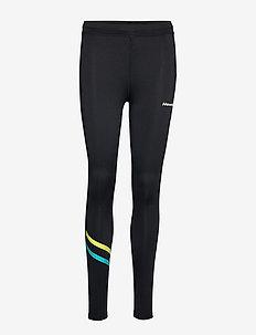 Tights - löpnings- och träningstights - black/lime/turquise