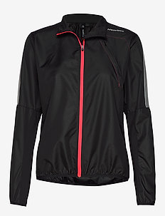 Visio Wind Jacket - BLACK AND NEON VIBRANT PINK