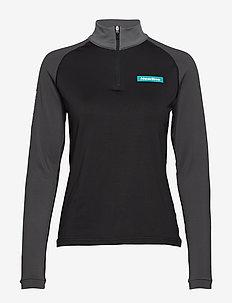 Warm Zip Shirt - BLACK/DARK GREY/GREY SHADE