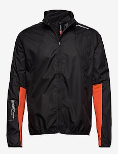 Wind Jacket - BLACK/REAL ORANGE