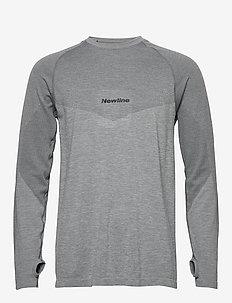 Jaquard Shirt - langermede topper - dark grey/berry