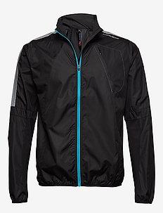 Visio Wind Jacket - sportjackor - black neon blue
