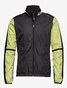 Cross Jacket - sportjackor - dark grey/black/lime