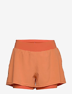 Women's 2-in-1 Shorts - trening shorts - mecca orange/dusted clay