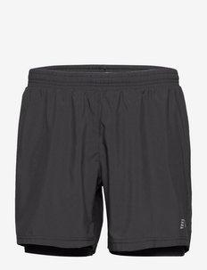 MEN 2-IN-1 SHORTS - chaussures de course - black
