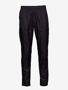 Black Track Cross Pants - BLACK