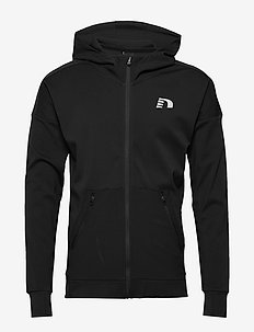 Men's Zip Thru Hoodie - BLACK