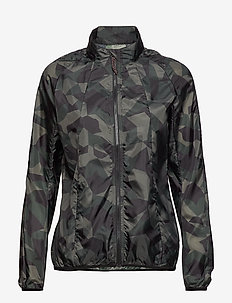 BLACK CAMO WINDSHIELD JACKET - training jackets - green camel aop