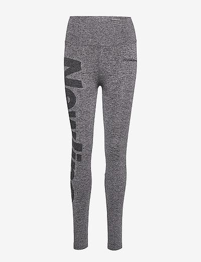 Jaquard Tights - running & training tights - heather grey