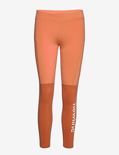 Women's 7/8 Tights - running & training tights - mecca orange/dusted clay