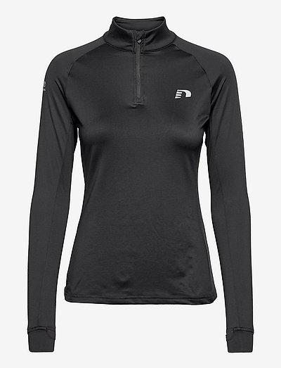 WOMEN'S 1/2 ZIP SWEAT - sportsjakker - black