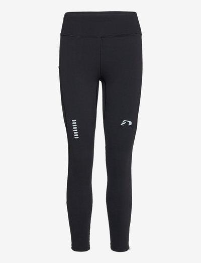 WOMEN'S HIGHWAIST WARM TIGHTS - løbe- og træningstights - black