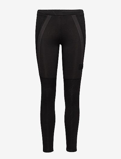BLACK WARM WIPER TIGHTS - running & training tights - black