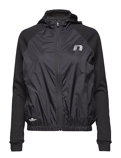 Black Hooded Track Jacket - BLACK