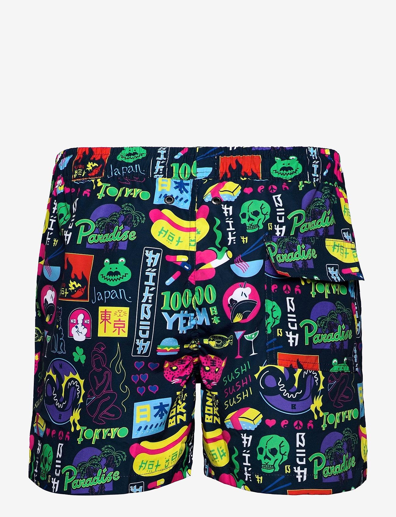 Nikben - Tokyo Paradise - shorts de bain - night bue - 1