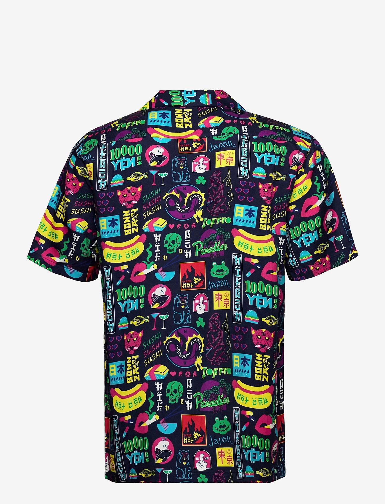 Nikben - Tokyo Paradise Shirt - chemises de lin - night bue - 1