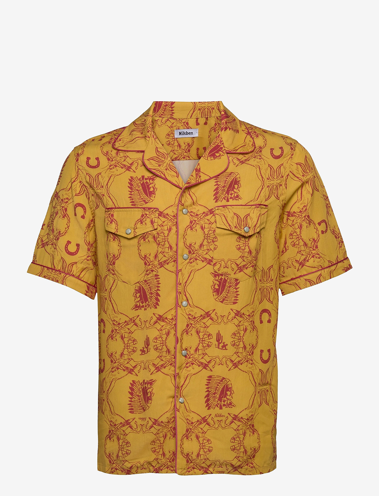 Nikben - NB Chief Shirt - chemises de lin - mustard - 0