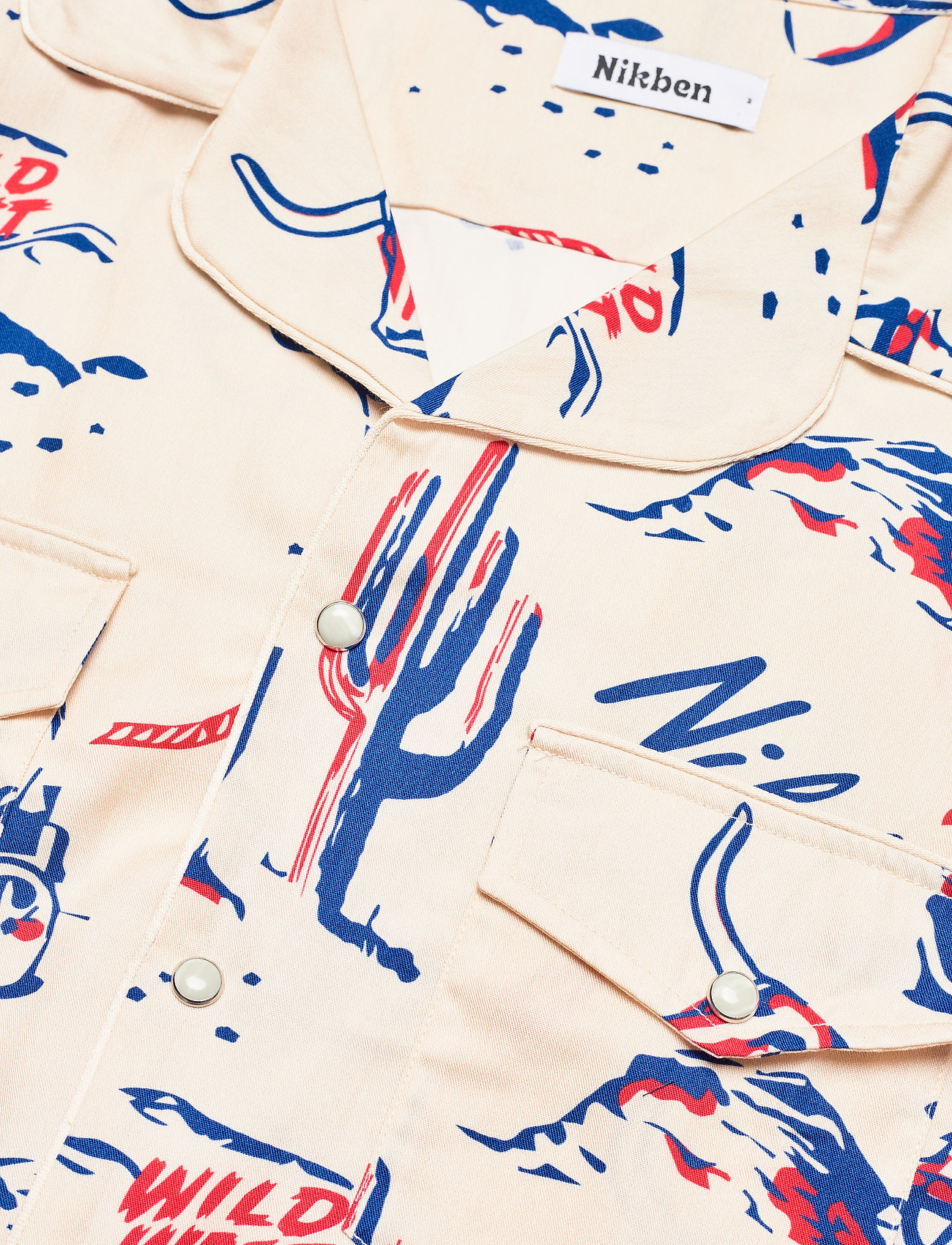 Nikben - Rodeo Western Shirt - geruite overhemden - beige - 3