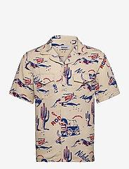 Nikben - Rodeo Western Shirt - geruite overhemden - beige - 0