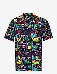 Nikben - Tokyo Paradise Shirt - chemises de lin - night bue - 0