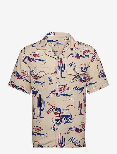 Rodeo Western Shirt - chemises de lin - beige