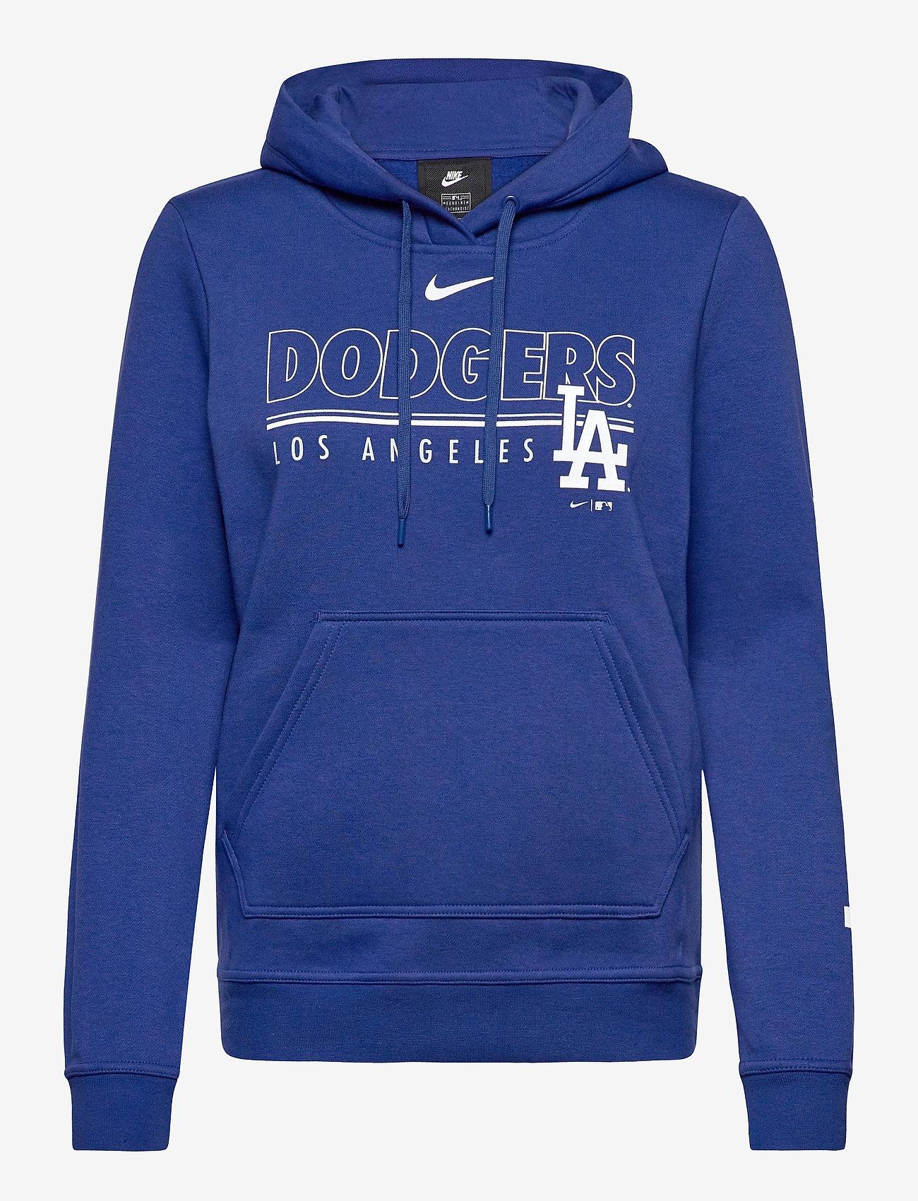 NIKE Fan Gear - LA Dodgers Nike Team Outline Club Pullover Hoodie - hettegensere - rush blue - 0