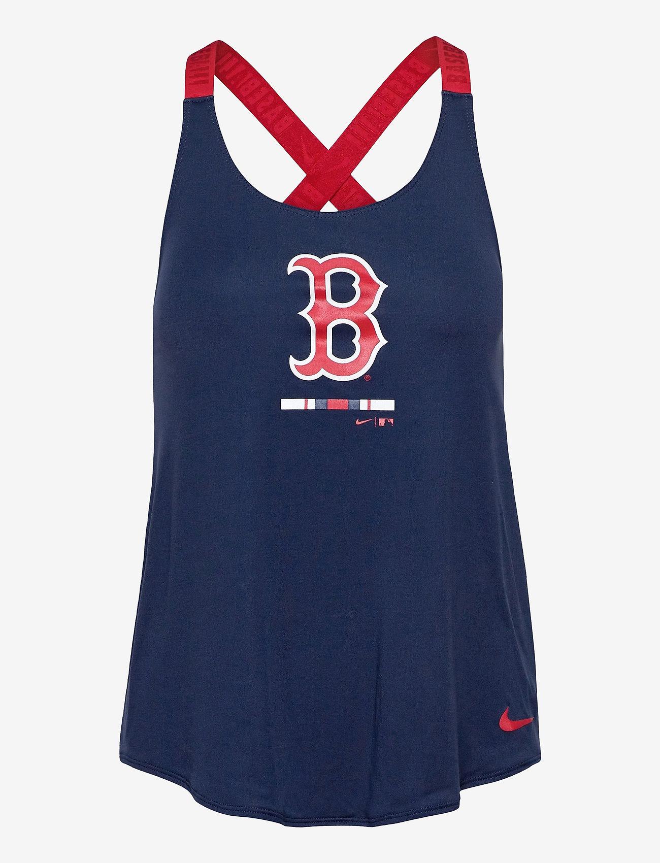 NIKE Fan Gear - Boston Red Sox Nike Legacy Dri-Fit Elastika Tank Top - tank tops - midnight navy - sport red - 0