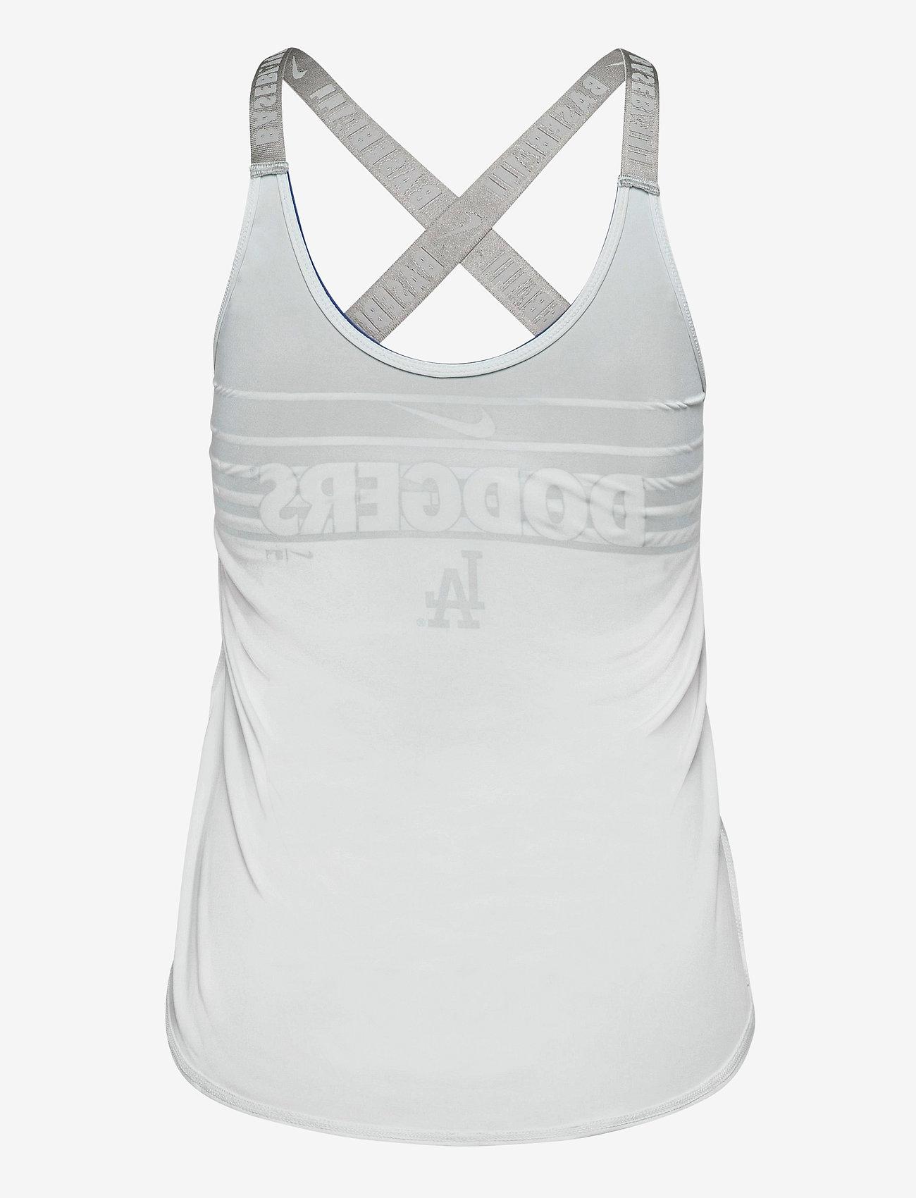 NIKE Fan Gear - LA Dodgers Women's Nike Rising Stripe Dri-Fit Elastika - tank tops - white - 1