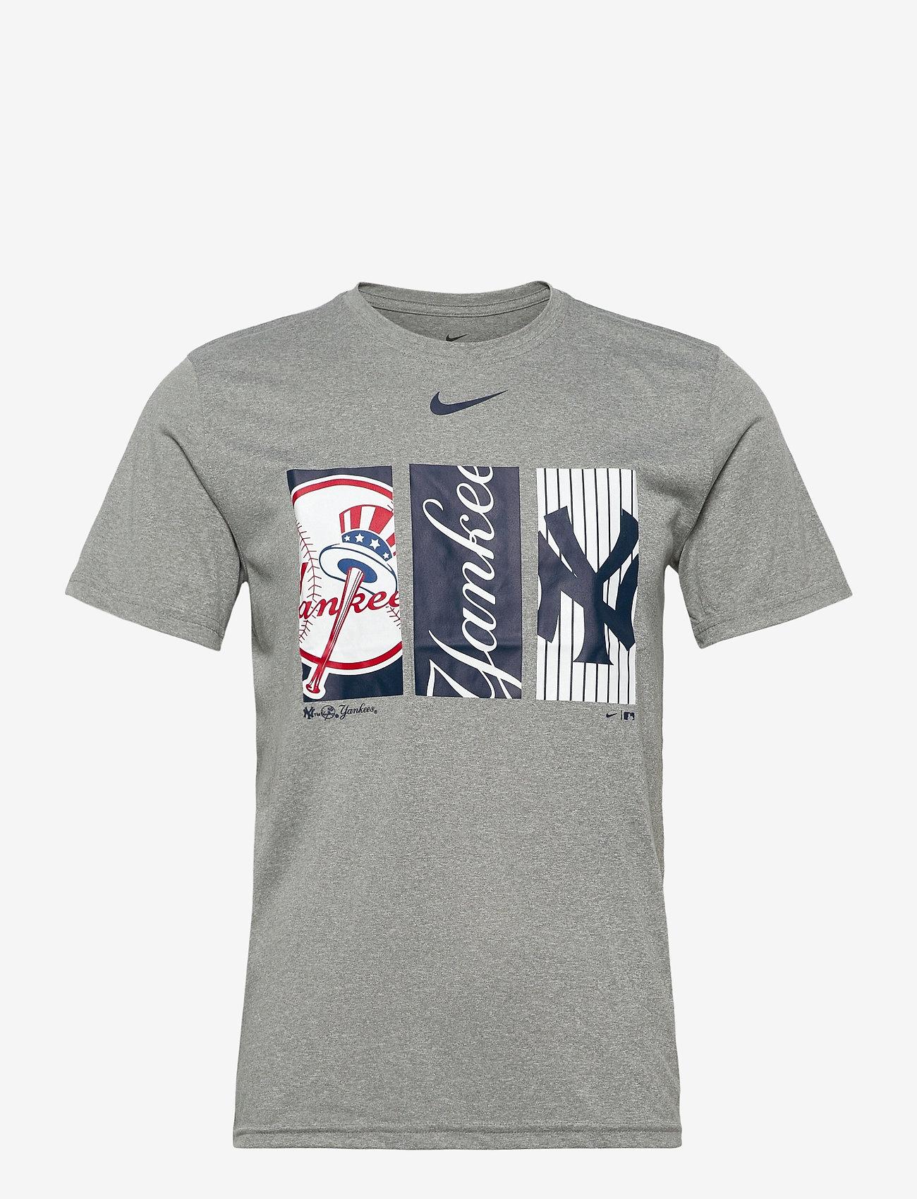 NIKE Fan Gear - New York Yankees Nike Tryptich Logo Legend T-Shirt - dark grey heather - 0