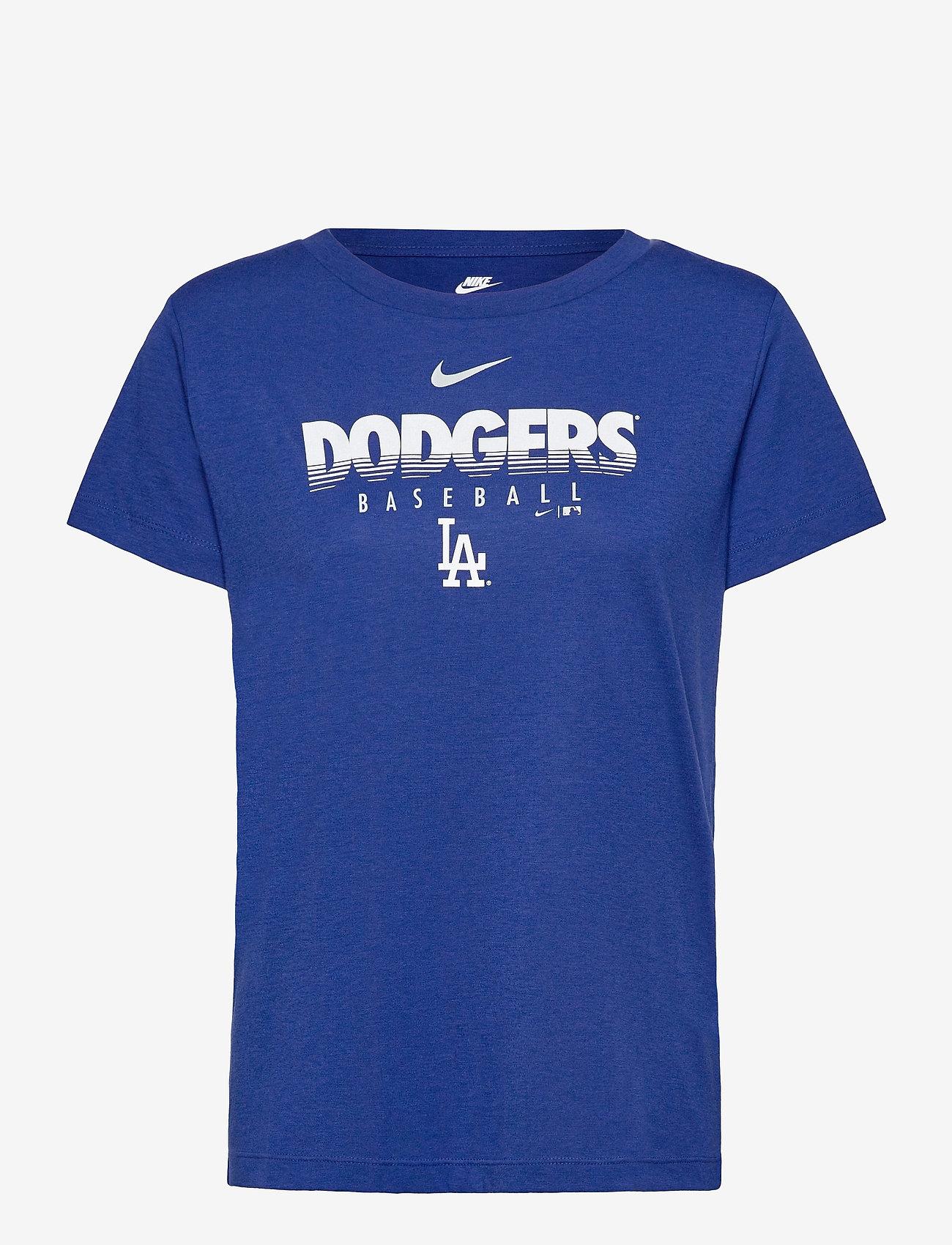 NIKE Fan Gear - LA Dodgers Nike Team Stripes Essential T-Shirt - t-shirts - rush blue - 0