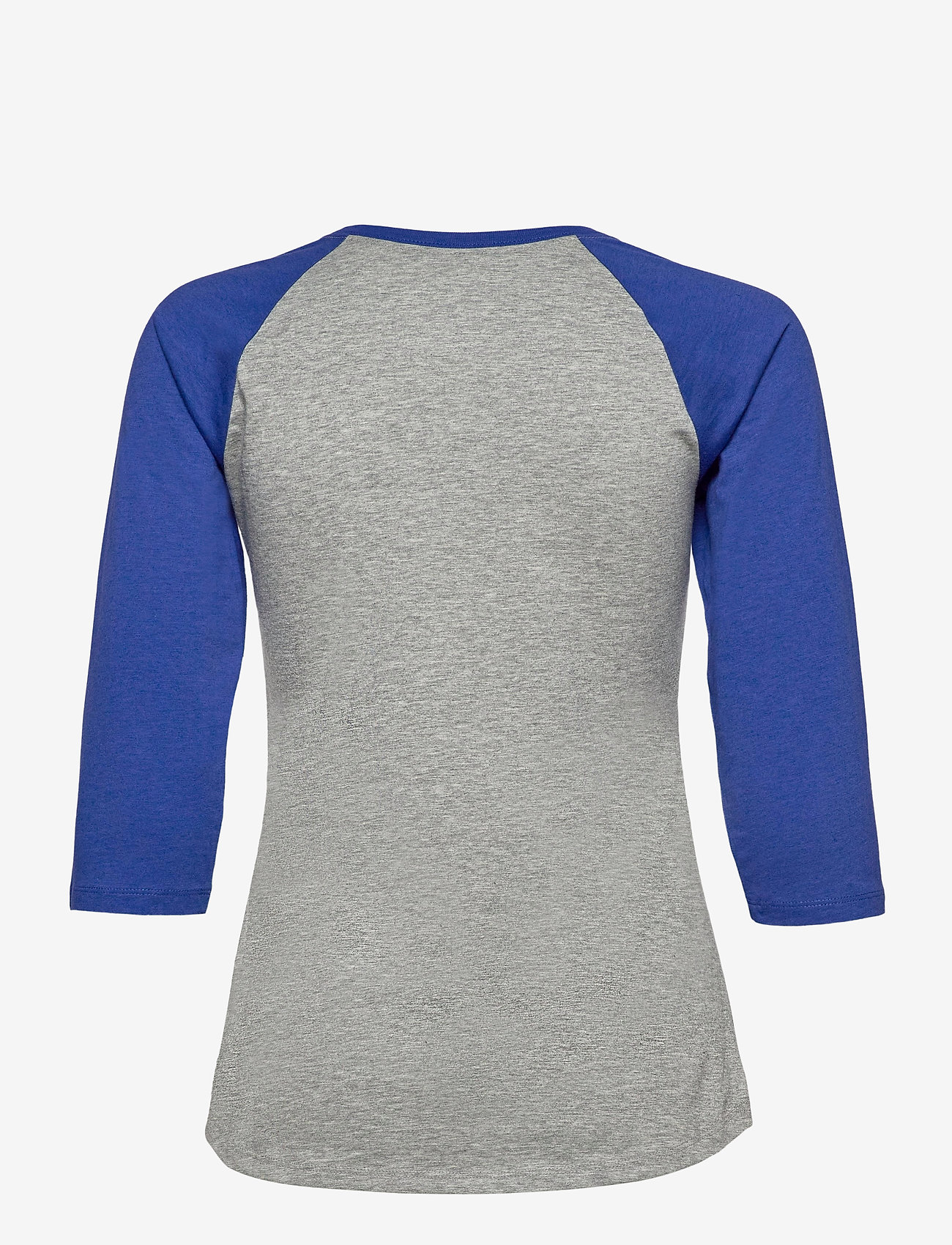 NIKE Fan Gear - LA Dodgers Nike Encircled Tri-Blend 3/4-Sleeve - longsleeved tops - dark grey heather - rush blue - 1