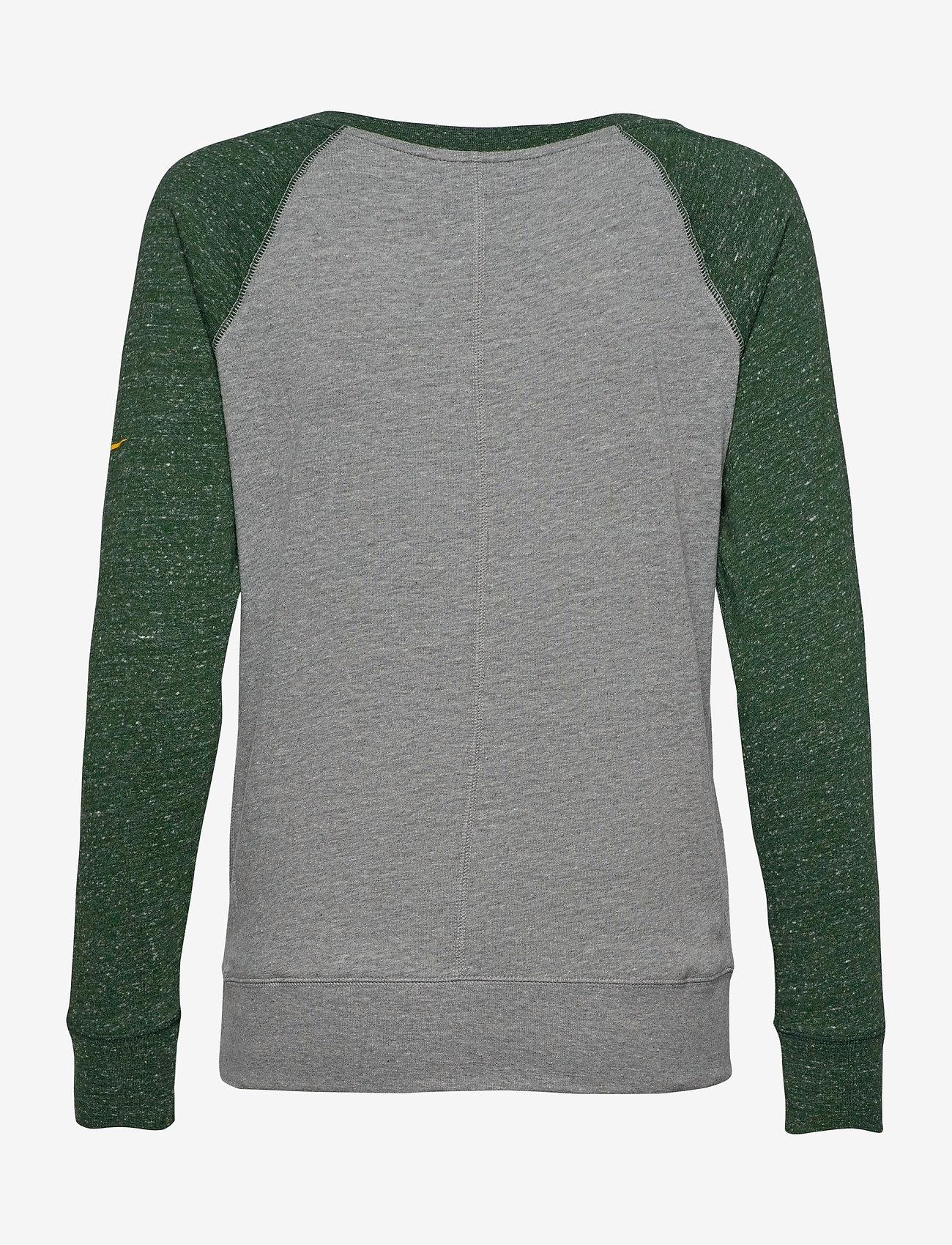 NIKE Fan Gear - Green Bay Packers Nike Left Chest Logo Gym Vintage - topjes met lange mouwen - dark grey heather / fir - 1