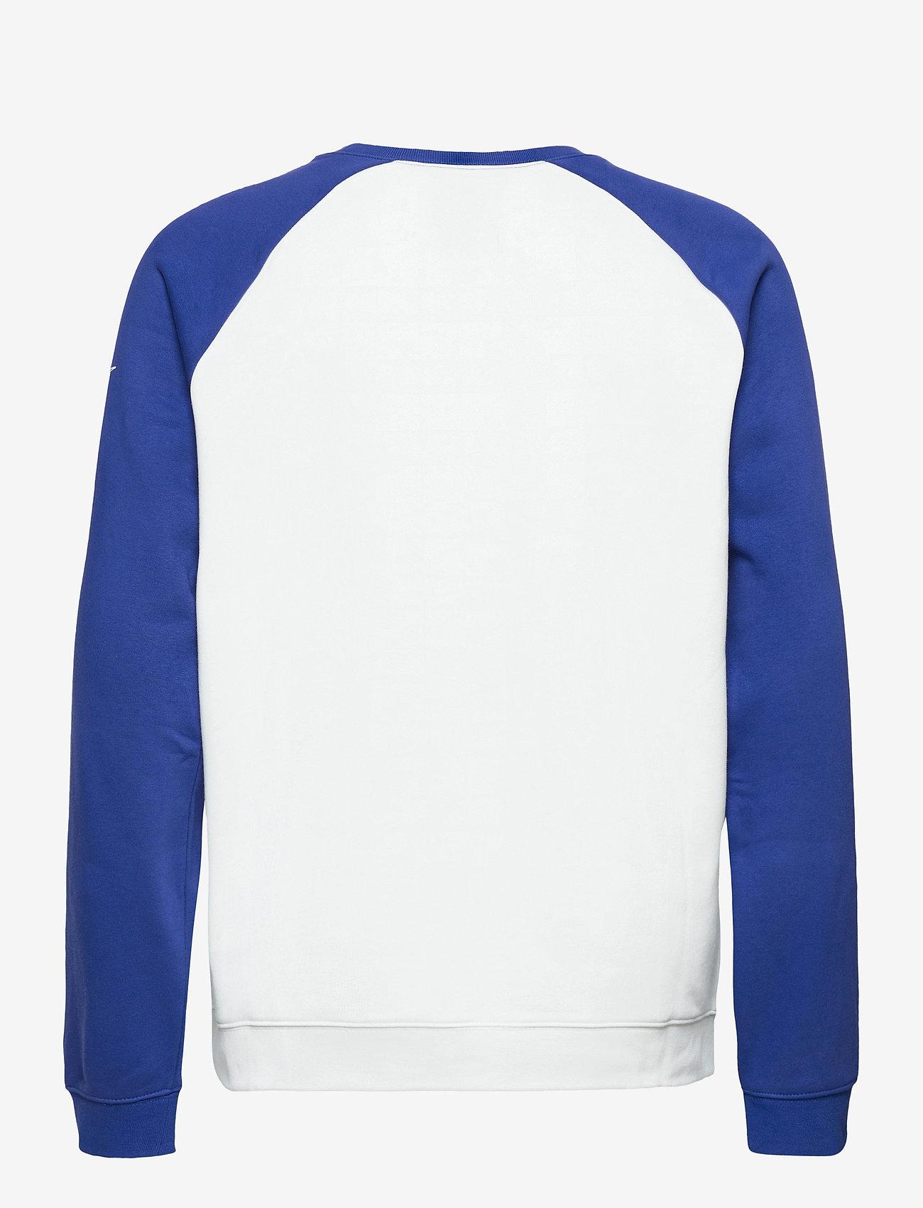 NIKE Fan Gear Dallas Cowboys Nike Go Helmet Historic Raglan - Sweatshirts WHITE / OLD ROYAL - Menn Klær