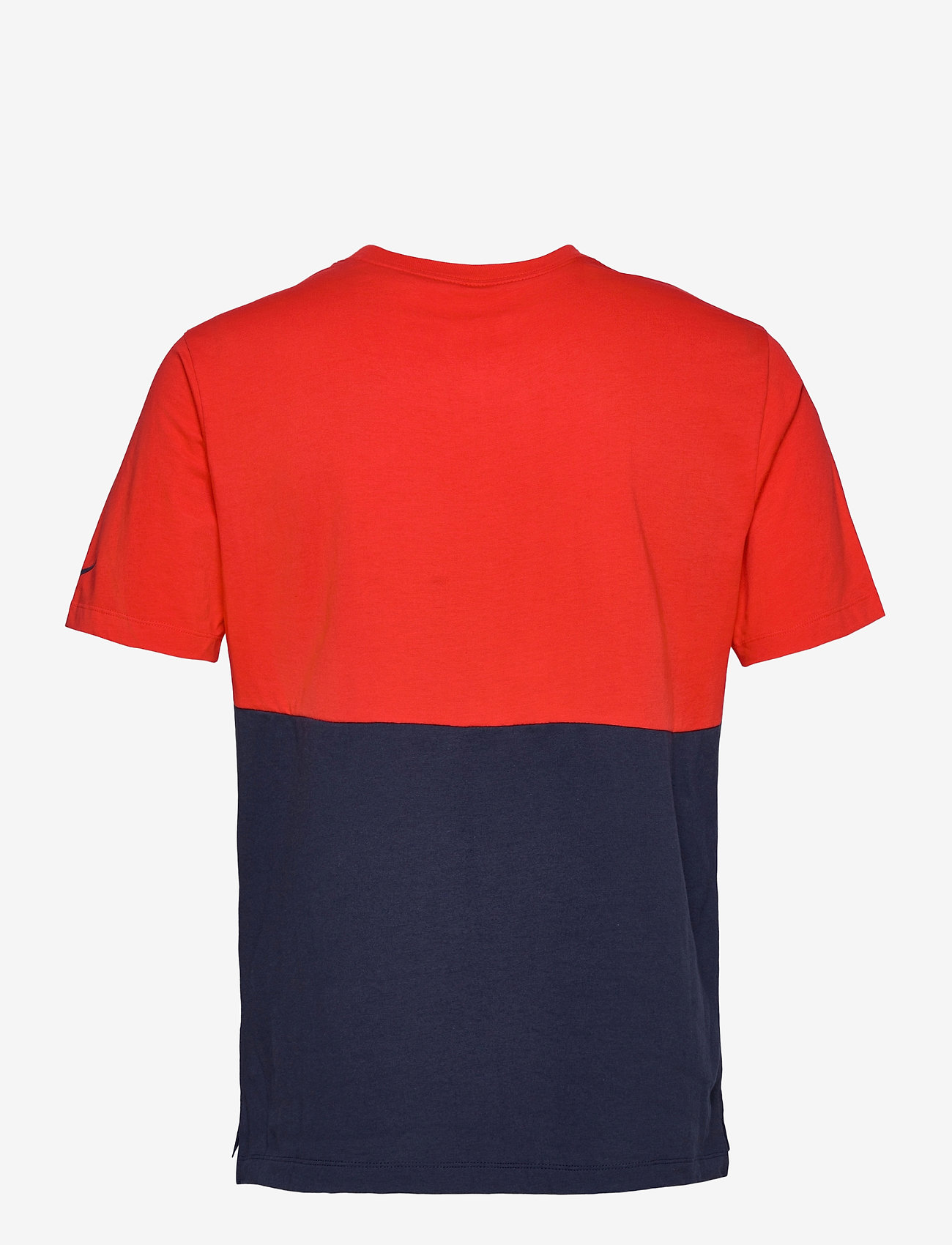 NIKE Fan Gear New England Patriots Nike Logo Name Colorblock T-Shirt - T-skjorter UNIVERSITY RED / COLLEGE NAVY - Menn Klær