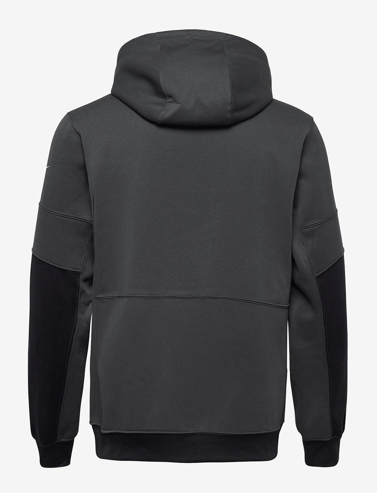 NIKE Fan Gear New York Giants Nike Lockup Therma Full Zip Hoodie - Sweatshirts ANTHRACITE / BLACK - Menn Klær