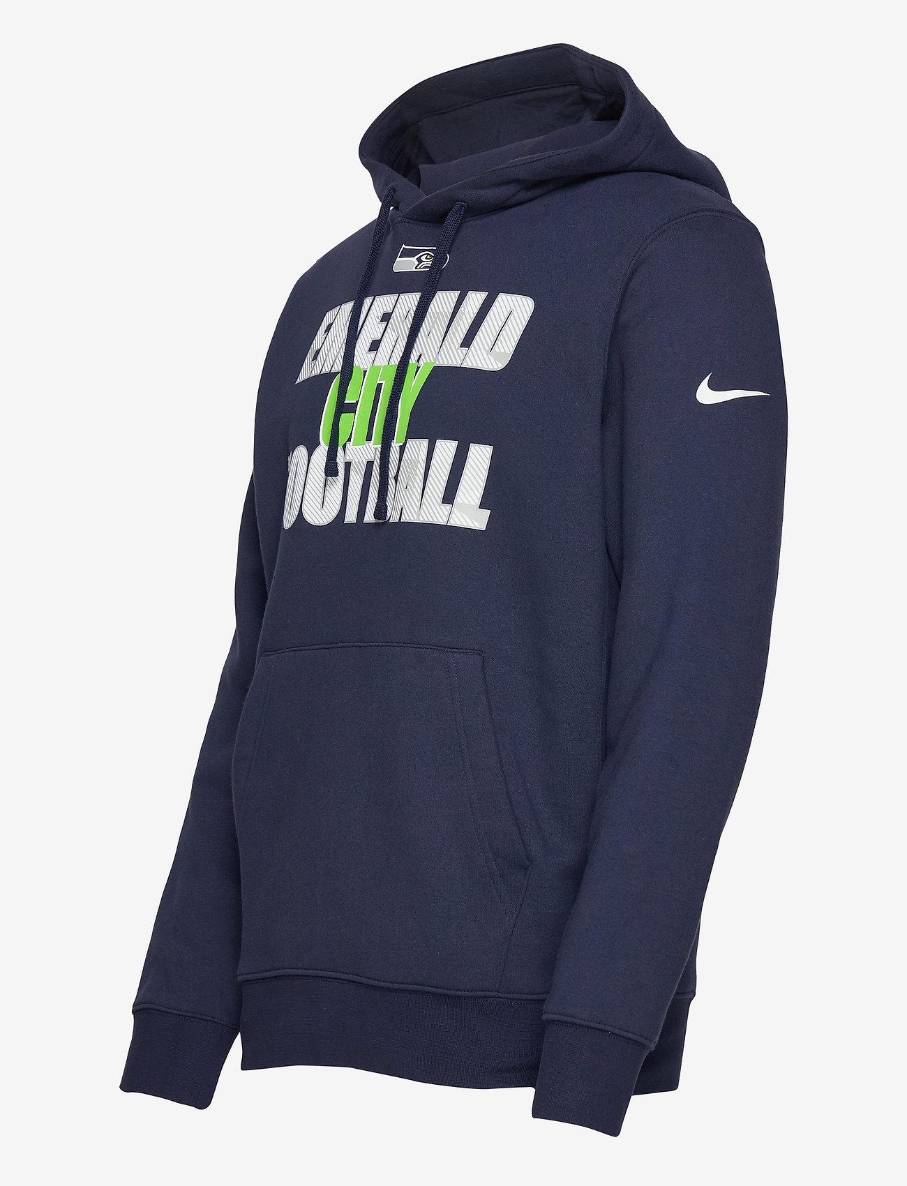 NIKE Fan Gear Seattle Seahawks Nike Local Club Fleece Hoodie - Sweatshirts COLLEGE NAVY - Menn Klær