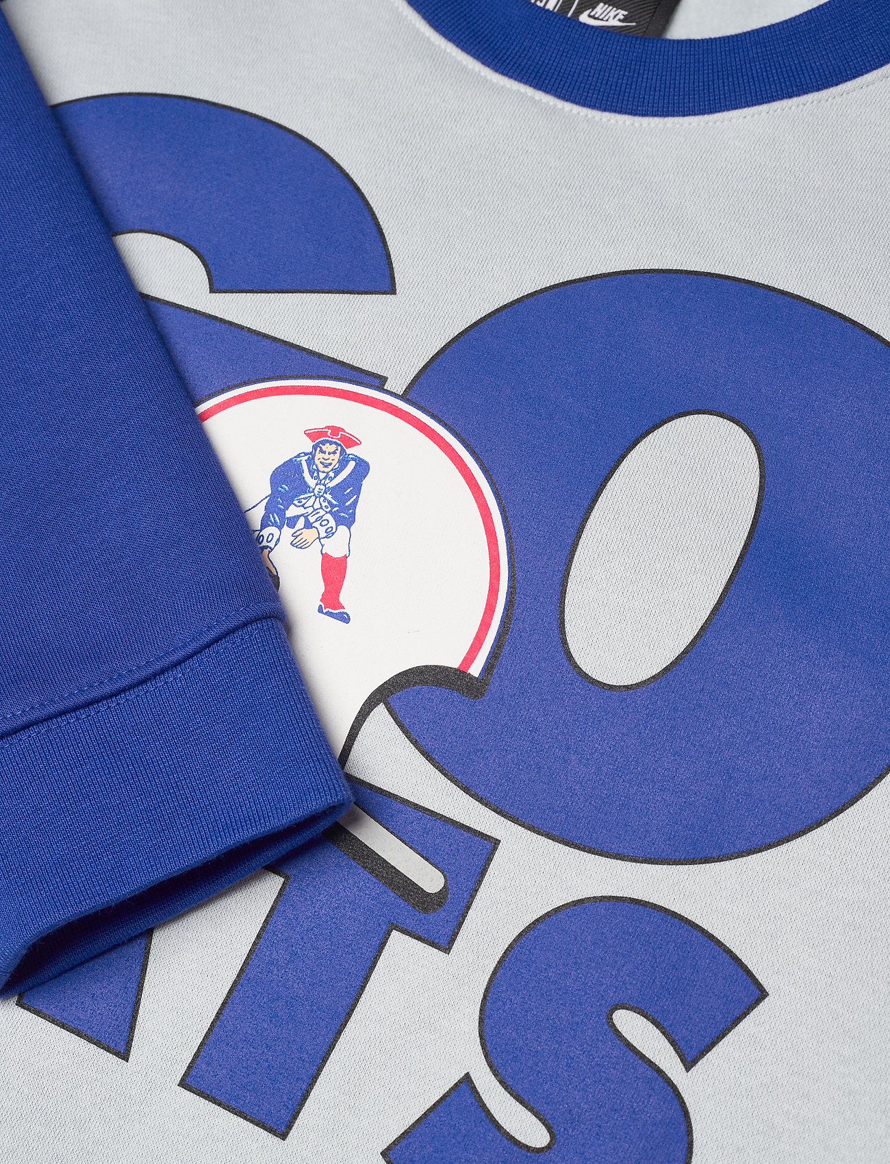 NIKE Fan Gear New England Patriots Nike Go Helmet Historic Raglan - Sweatshirts FIELD SILVER / OLD ROYAL - Menn Klær