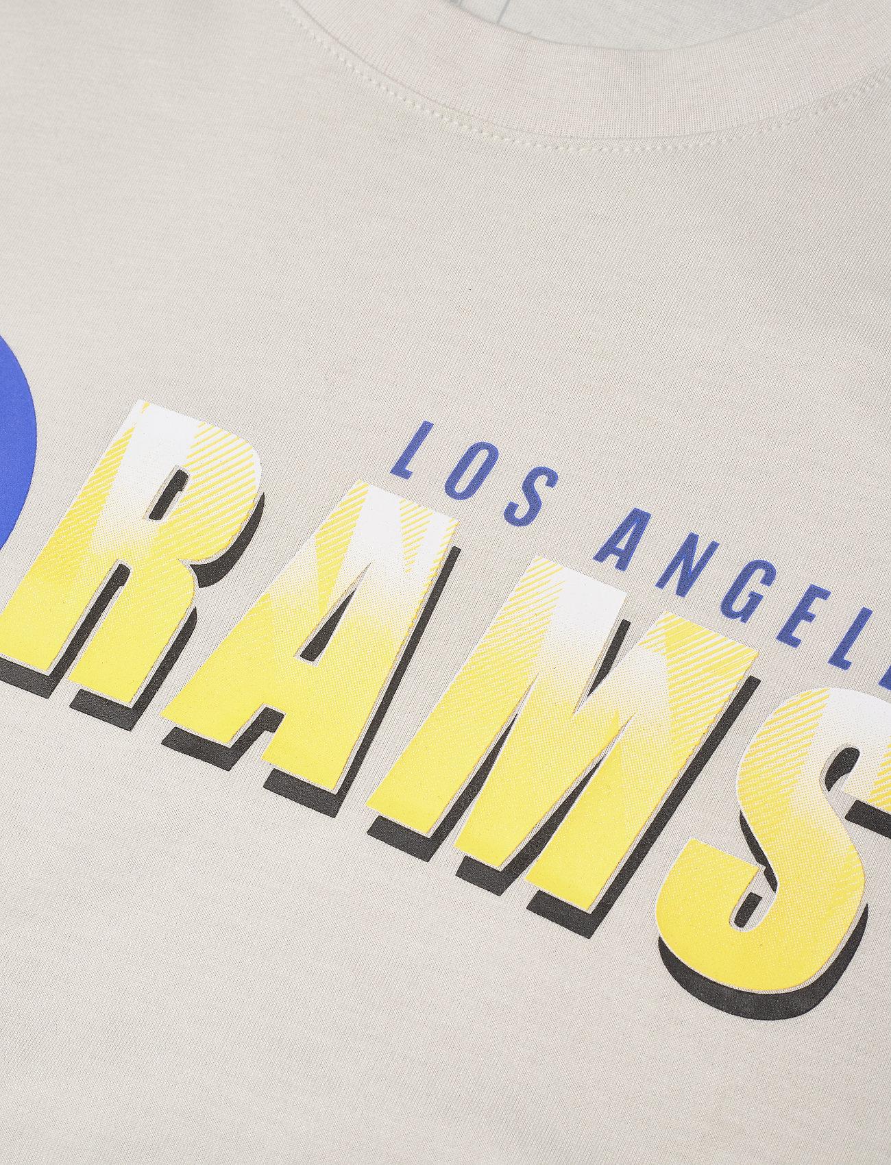 NIKE Fan Gear Los Angeles Rams Nike Logo Name Colorblock T-Shirt - T-skjorter LIGHT BONE / HYPER ROYAL - Menn Klær