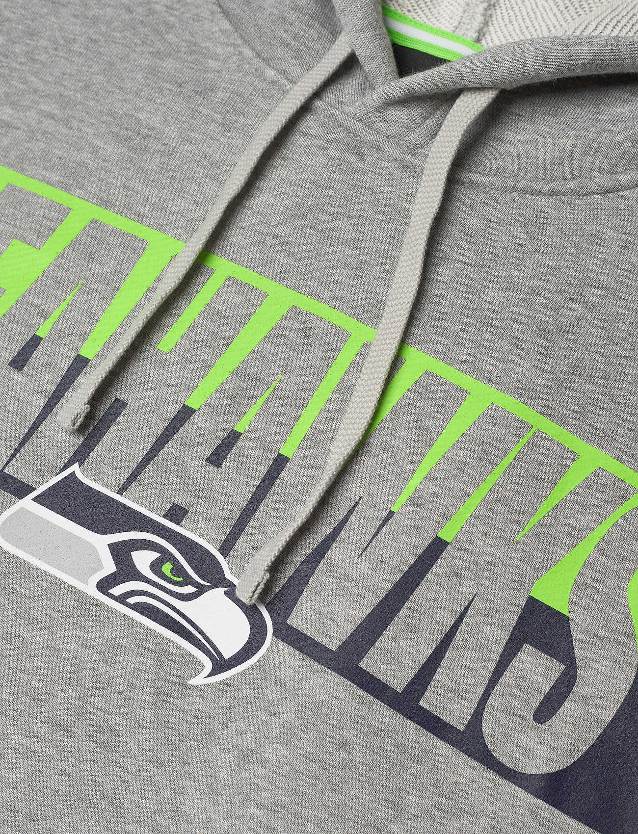 NIKE Fan Gear Seattle Seahawks Nike Wordmark Long Sleeve Heritage Hoodie - Sweatshirts DARK GREY HEATHER / ACTION GREEN / COLLEGE NAVY - Menn Klær