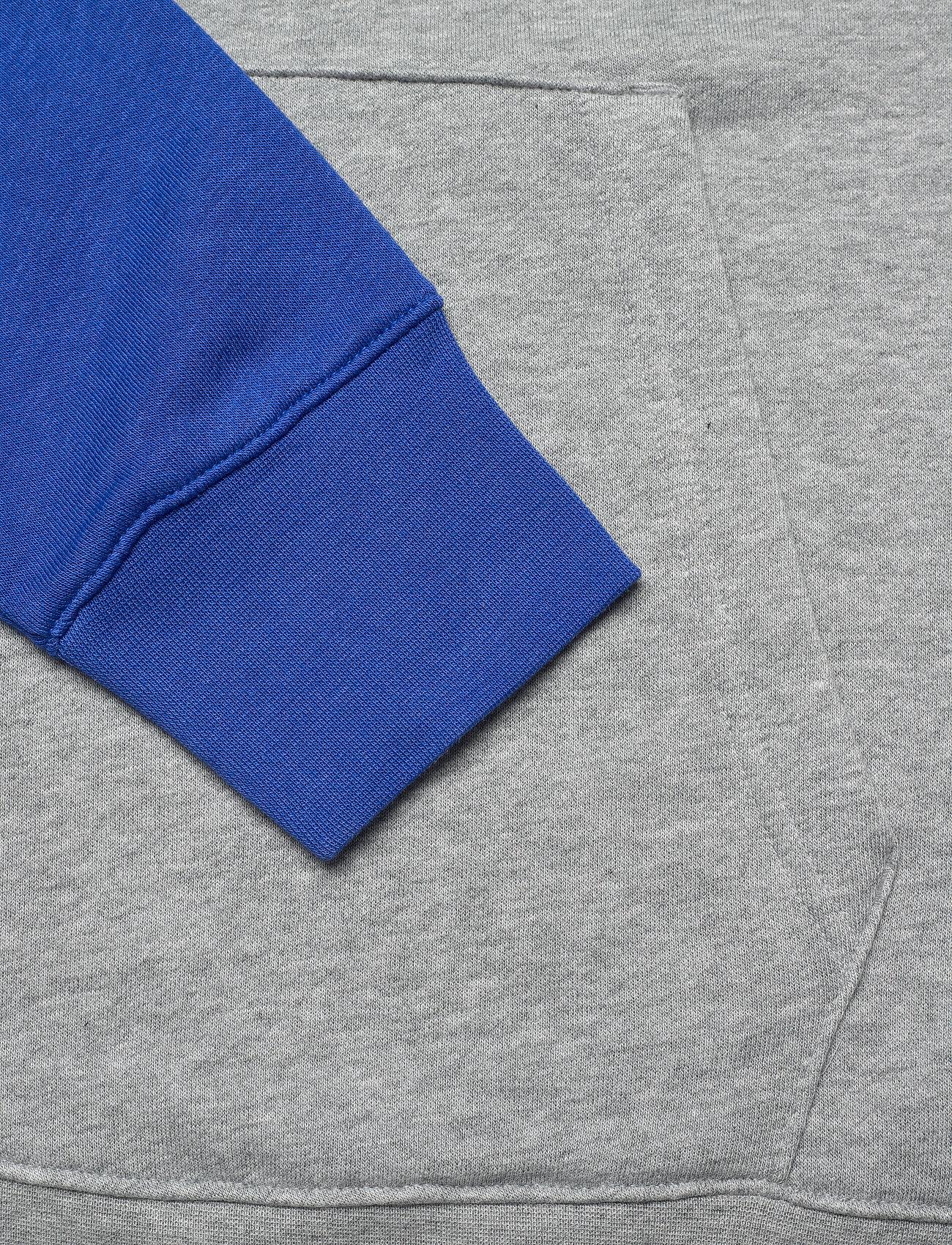 NIKE Fan Gear Los Angeles Rams Nike Wordmark Long Sleeve Heritage Hoodie - Sweatshirts DARK GREY HEATHER / LIGHT BONE / HYPER ROYAL - Menn Klær