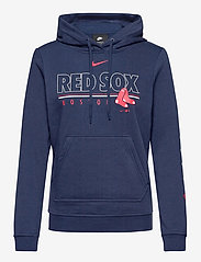 NIKE Fan Gear - Boston Red Sox Nike Team Outline Club Pullover Hoodie - hoodies - midnight navy - 0
