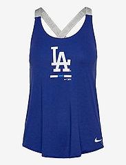 NIKE Fan Gear - LA Dodgers Nike Legacy Dri-Fit Elastika Tank Top - tank tops - rush blue - medium silver - 0