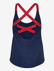 NIKE Fan Gear - Boston Red Sox Nike Legacy Dri-Fit Elastika Tank Top - tank tops - midnight navy - sport red - 1