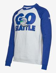 NIKE Fan Gear - Seattle Seahawks Nike Go Helmet Historic Raglan Sweatshirt - sweats - field silver / old royal - 2