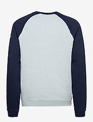 NIKE Fan Gear - New York Giants Nike Go Helmet Historic Raglan Sweatshirt - sweats - field silver / college navy - 1