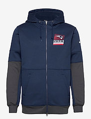 NIKE Fan Gear - New England Patriots Nike Lockup Therma Full Zip Hoodie - pulls a capuche - college navy / anthracite - 0