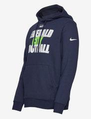 NIKE Fan Gear - Seattle Seahawks Nike Local Club Fleece Hoodie - college navy - 2