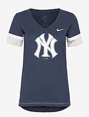 NIKE Fan Gear - New York Yankees Nike Mesh Logo Fashion Vneck T-Shirt - t-skjorter - midnight navy heather - 0
