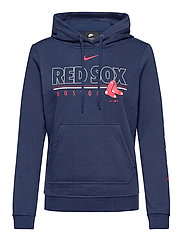 Boston Red Sox Nike Team Outline Club Pullover Hoodie - MIDNIGHT NAVY